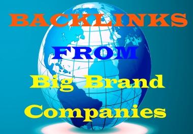I Will MANUALLY Backlinks From Big Brand Companies