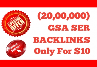 I Will Provide 2 Million GSA SER High Powerful SEO Backlinks For Fast Ranking