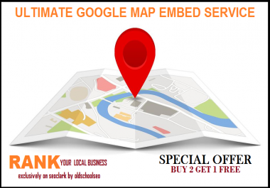 I will embed your google map into 160 web 2 blog, local business ranking