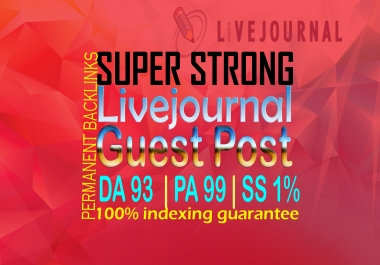 Publish Guest Post On Livejournal High (DA 92) and permanent backlinks