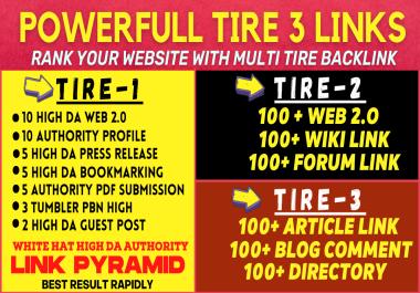 POWERFUL MULTI 3 TIER LINKBUILDING PYRAMID RANK YOUR WEBSITE RAPIDLY