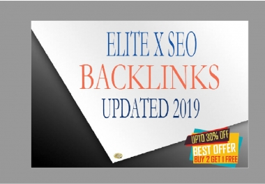 You can now easily rank your Website, Blog with my ELITEX SEO BACKLINKS Updated 2019 for the latest