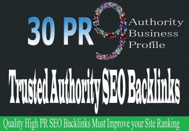 30 PR9 Whitehat High DA Authority Business Profile Creation for Improve Website Ranking