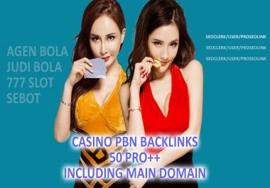 50 Pro++ Poker/Casino/gambling PBN Homepage Backlinks with niche relevant blog-post