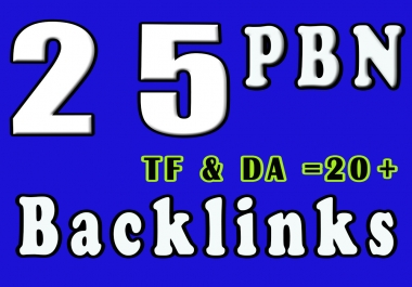 Create Manually 25 Homepage PBN Backlinks TF & DA is 20+ to get Skyrocket SERP with Blogger Links