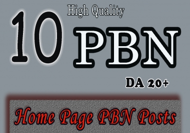 Create Manually 10 Homepage PBN Backlinks TF & DA is 20+ to get Skyrocket SERP with Blogger Links fo