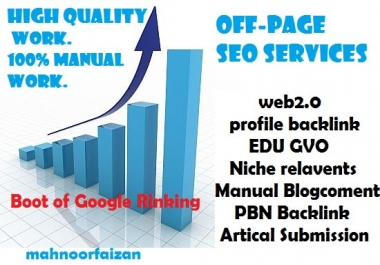 Off-page Seo service High Quality Work