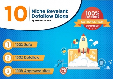 I will do 10 high authority dofollow backlink niche realvent