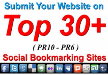 Provide 30 High PA, DA Social Bookmarking Backlinks best for Your SEO