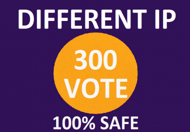 Happy to buy 300 Different Ip Votes From Unique Ip Address