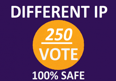 Bring 250 different ip votes from unique ip address
