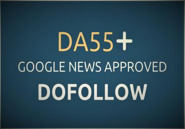 Guest posting service on DA 55 Google News Site