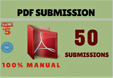 I will do manually PDF submission on 50 sites