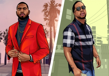 I will draw your gta style cartoon portrait from your photo