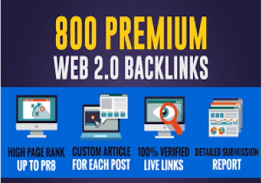 Provide 800 High quality Web2.0 Backlinks best for Your SEO