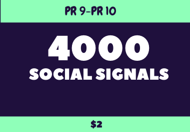 Viral Your Website Through 4000 Social Signals share to Improve SEO Ranking.