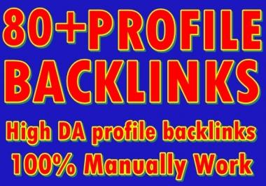 80+ profile Backlinks-High DA PA Profile Backlinks-Top service in seoclerk