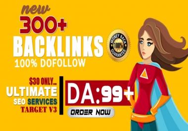 300 OMEGA V3 High DA Highly Diversified SEO Backlinks