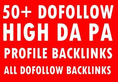 50+ Dofollow profile Backlinks-All Dofollow Backlinks-Top service in seoclerk