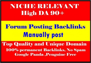 10 niche related forum posting backlinks-Top service