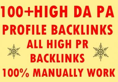 100+ High DA PA Profile Backlinks-All High PR Backlinks-Top service