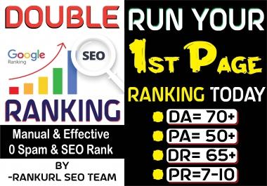 Get Double 2x Google Ranking with PR9 & DA70 SEO Contextual Dofollow Manual Backlinks