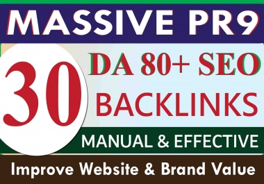 Boost your ranking by manual high authority DA 80+ PR9 SEO backlinks