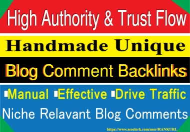 20 SEO Blog Comment- Niche Relevant or your business type Blog Comments Backlinks Manually