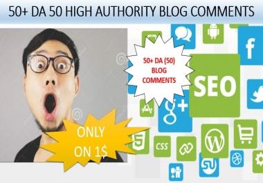 Provide Unique 50+ (50) blog comments high authority backlinks