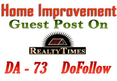 Guest Post on Home improvement website Realtytimes... com Da 73