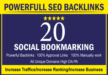 I Will Do 25 High Quality Social Bookmarking To Rank Your Business