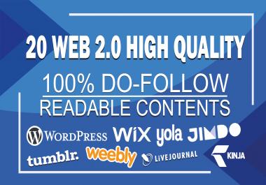 Create 20 High Quality Web 2.0