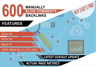 I will do 600 unique trust flow blog comment manually on good ranking sites