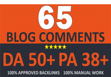 Create 65 UNIQUE DOFOLLOW Blog Comments On DA 50+ Site