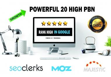 20 Powerful Metric PBN - Rank Higher In Google With DA PA Dofollow Permanent