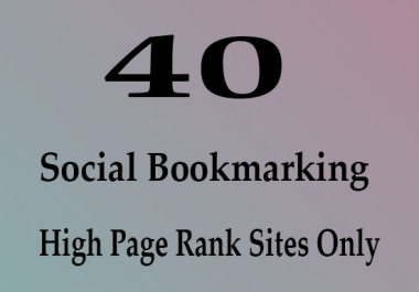 Fast 40 live Manually Social Bookmarking links for your Website or page or video within 24 hours