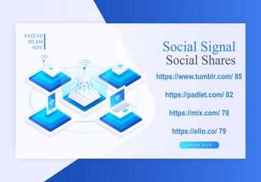 Get 80 Social Signal Social Shares On 80 Da Websites