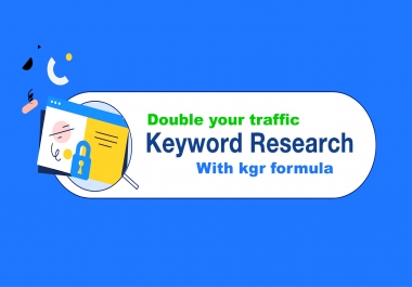 I will do kgr keyword research for affiliate or niche site