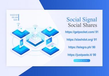 Get 80 Social Signal or Social Shares On 90 Da Websites