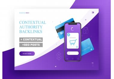 50 contextual seo dofollow authority backlinks
