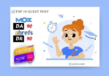 Top 10 high da guest posts on da90 guest posting site
