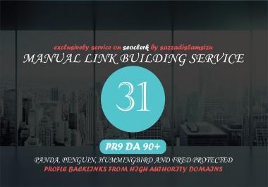 31 PR9 High Authority Backlinks Seo link building