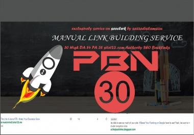 30 site123 DA 84 contextual seo dofollow authority backlinks