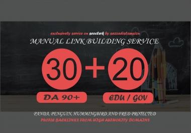 30 Pr9 + 20 Edu/Gov High Authority Backlinks Seo link building
