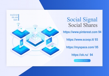 Get 80 Social Signal Social Shares On Da 90 Websites