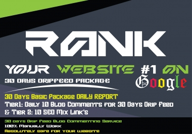 30 days drip feed seo link building Blog Comments service