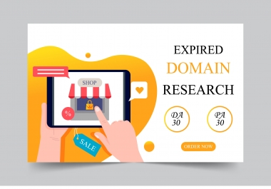 I will find expired domain with authority backlinks