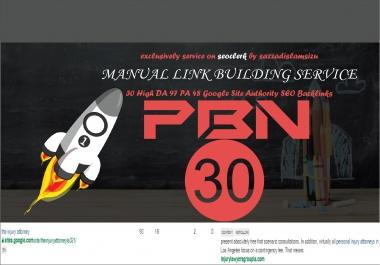 30 High DA 97 PA 48 Google Site Authority Backlinks