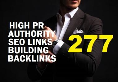 Do 277 Powerful High Pr Authority SEO Link Building Backlinks