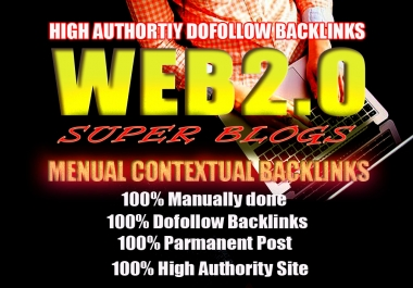 10 Handmade Super Web 2.0 blogs with login || Dofollow SEO Backlinks